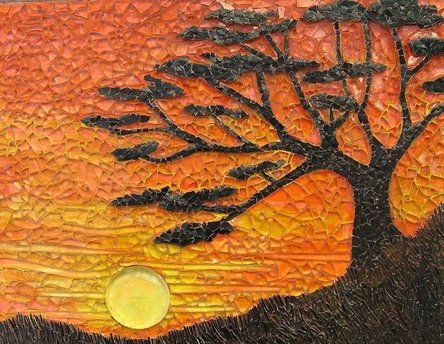 дерево из яичной скорлупы