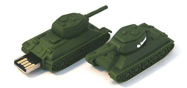 флешка в форме танка