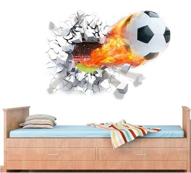 Стрельбы-футбол-через-стены-стикеры-детская-комната-украшения-1473-Главная-наклейки-футбольных-любителей-3d-росписи-искусство