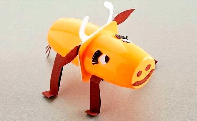 корова поделка