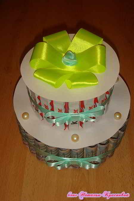 Как сделать торт из конфет фото 891