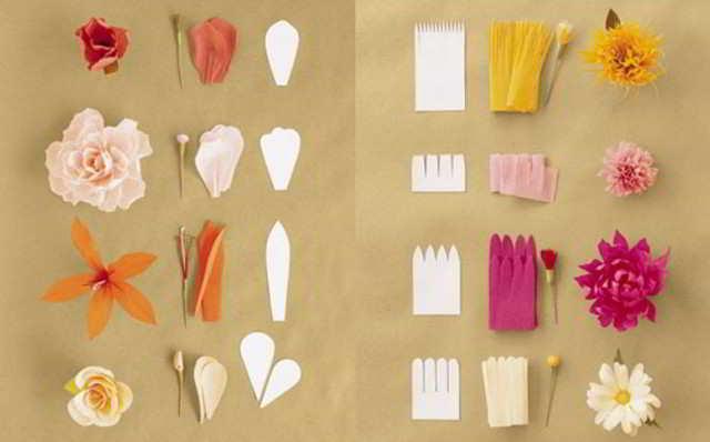 Как сделать из бумаги маленькие цветочки