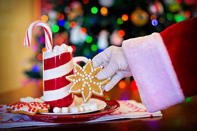 рука Санта Клауса