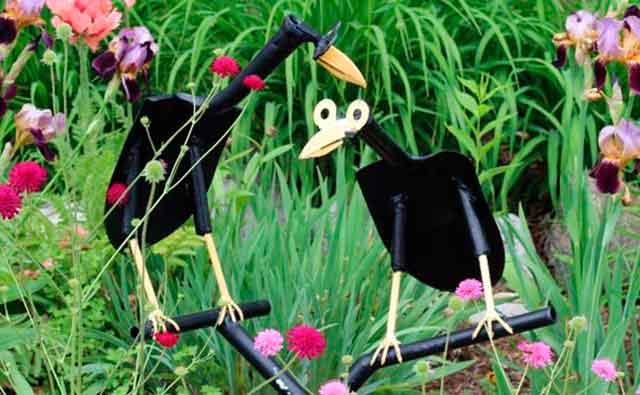 Птички из лопаты