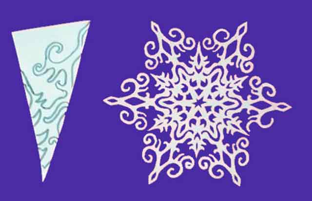 Новогодние красивые снежинки своими руками из бумаги