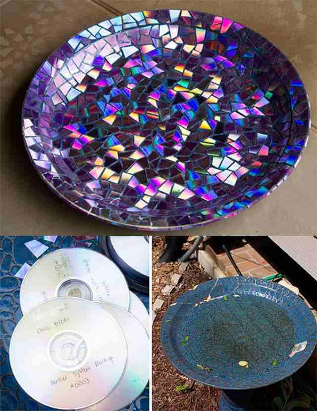 ваза из дисков своими руками