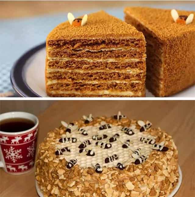 медовый торт в домашних условиях рецепт без меда