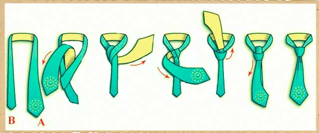Как завязывать галстуки виндзор