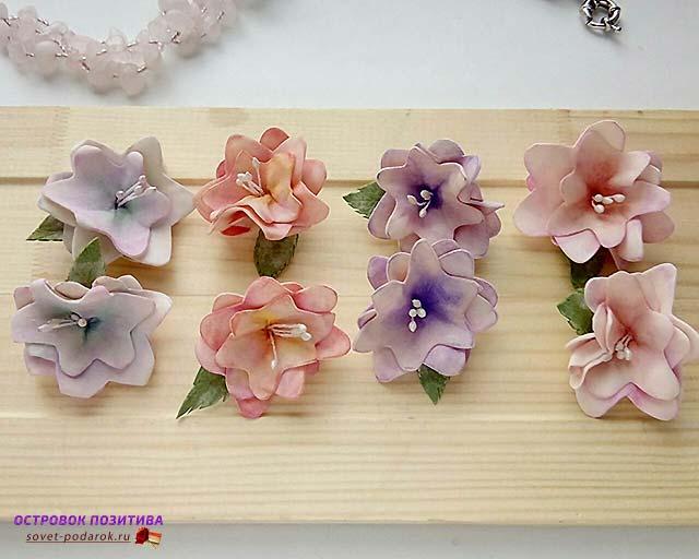 Фоамиран цветы мастер класс для начинающих роза