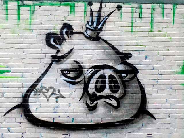 свинья графитти