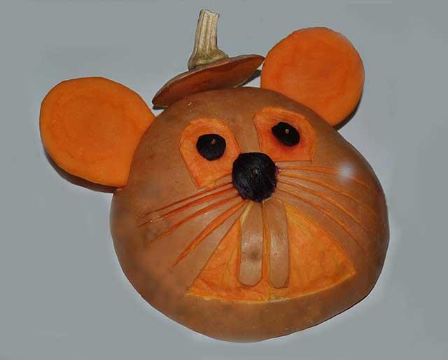 мышь из тыквы