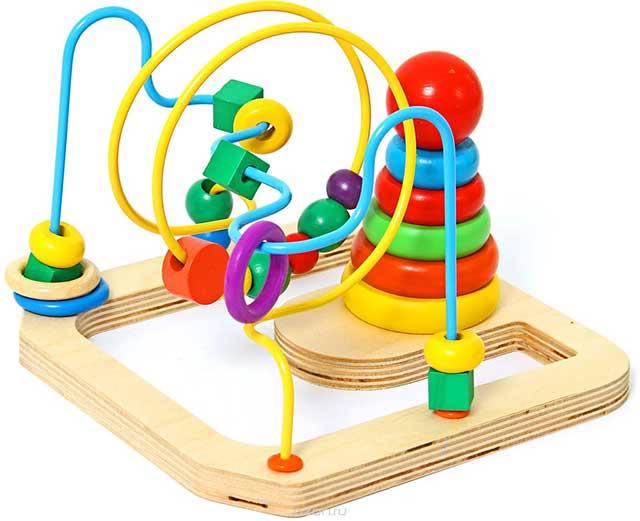 игрушка лабиринт с пирамидкой