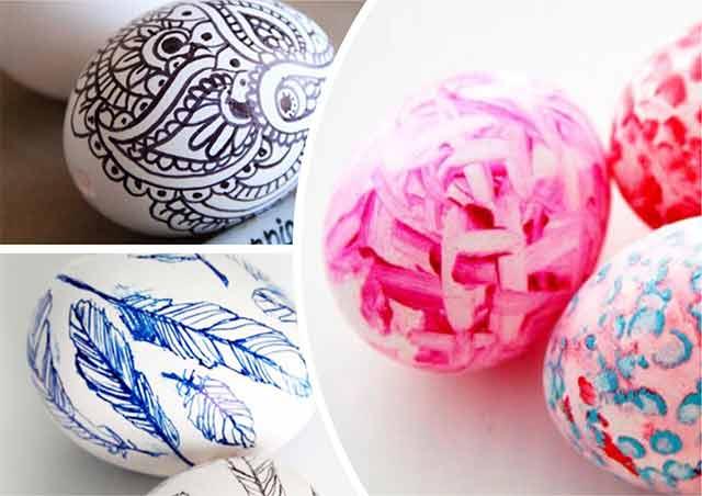 простые рисунки для яиц