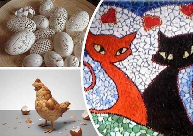 Поделки из скорлупы яиц своими руками: 33 идеи для детей