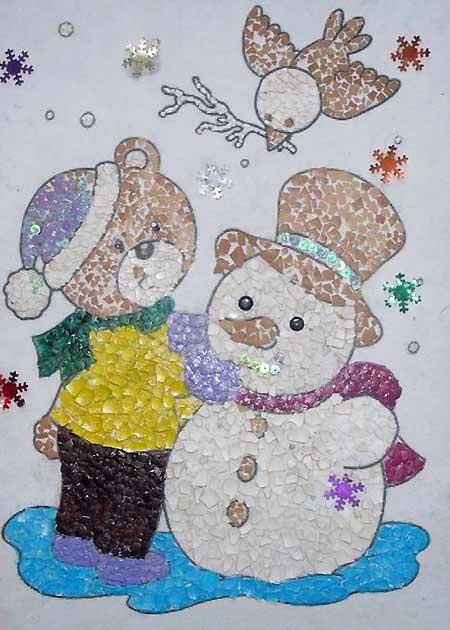снеговик и медвежонок