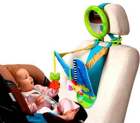 яркая игрушка с зеркалом