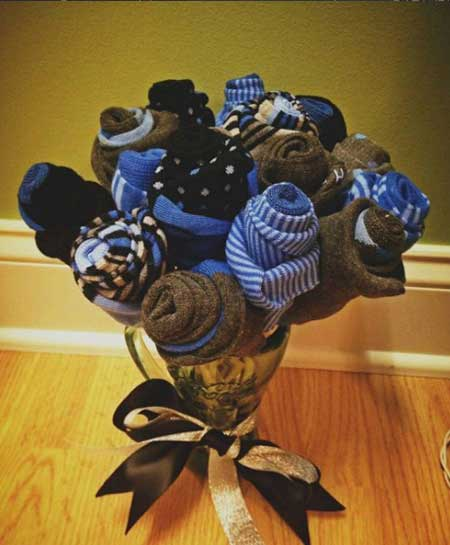 цветы из носков