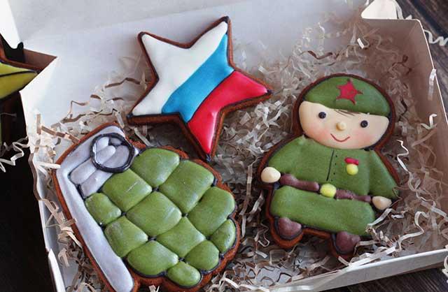 имбирное печенье с 23 февраля