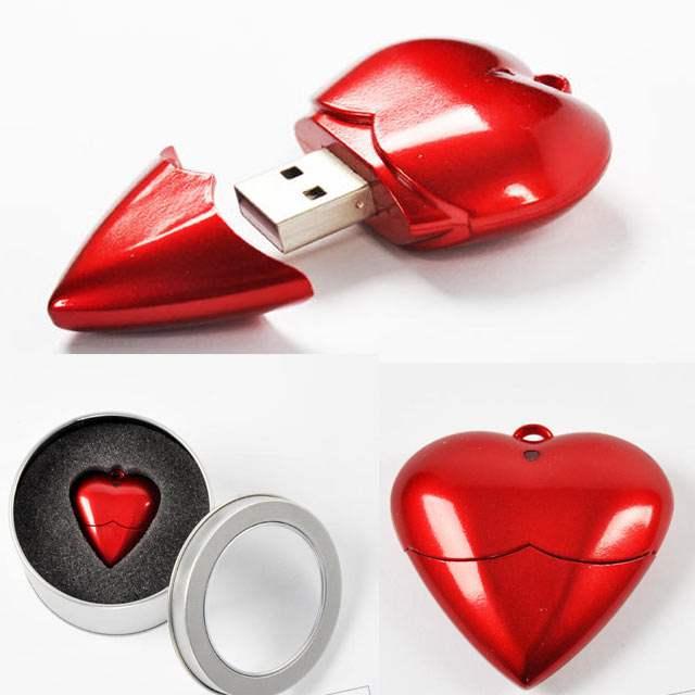 флешка в форме сердца