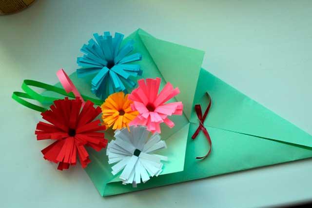 подарок маме из бумаги