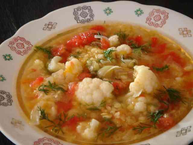 суп с капустой и чечевицей
