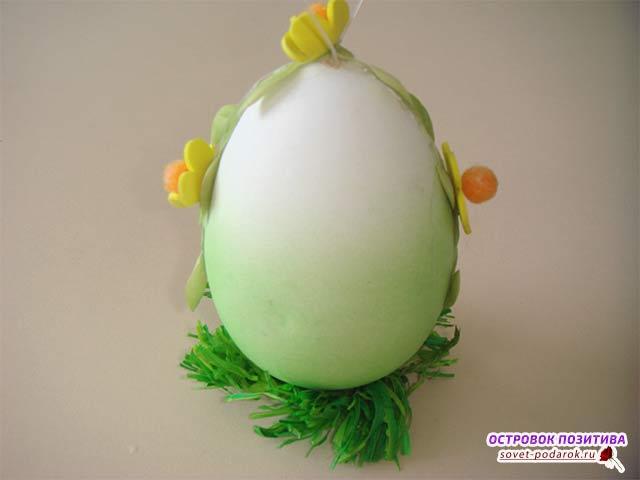 поделка на пасху из яйца