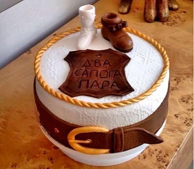 торт с сапогами