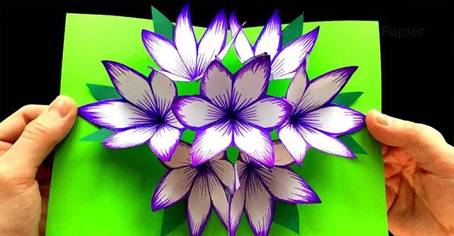 объемная открытка с цветочком