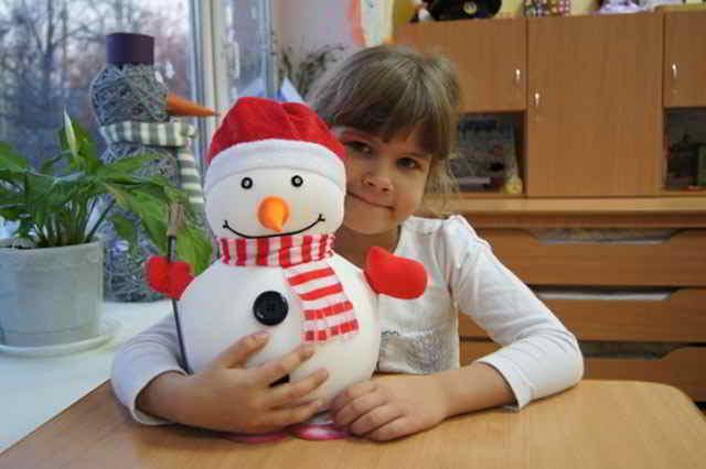 Поделки снеговика своими руками видео фото 744