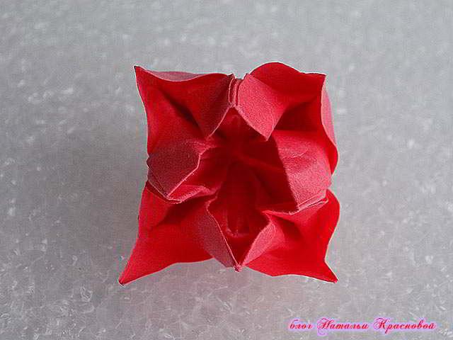 цветок оригами из бумаги 2