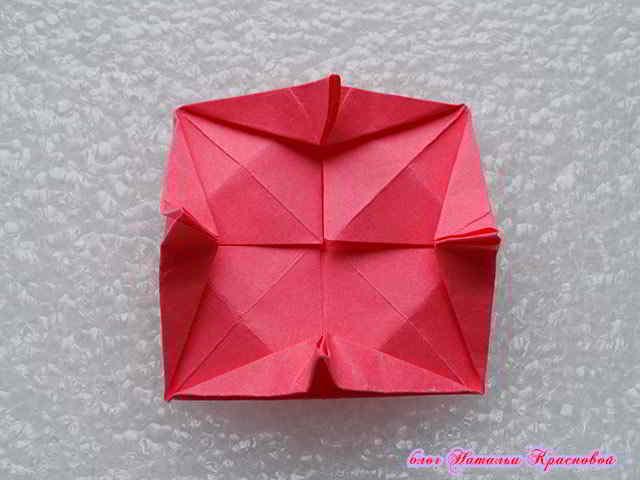 цветок оригами из бумаги 10