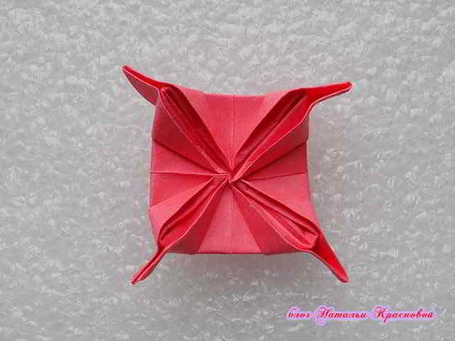 цветок оригами из бумаги 9