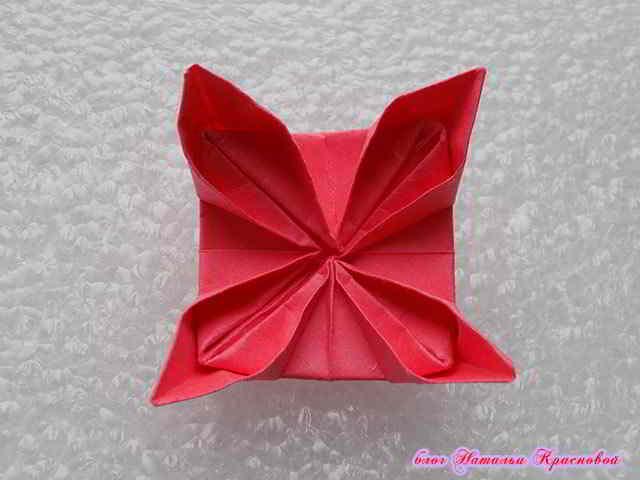 цветок оригами из бумаги 7