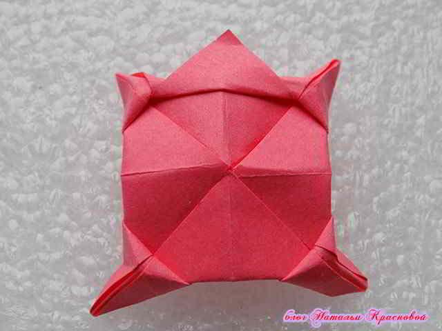 цветок оригами из бумаги 6