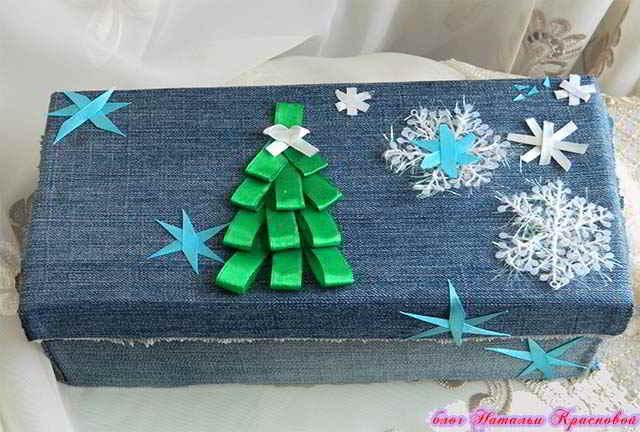 Новогодняя коробочка для подарка своими руками