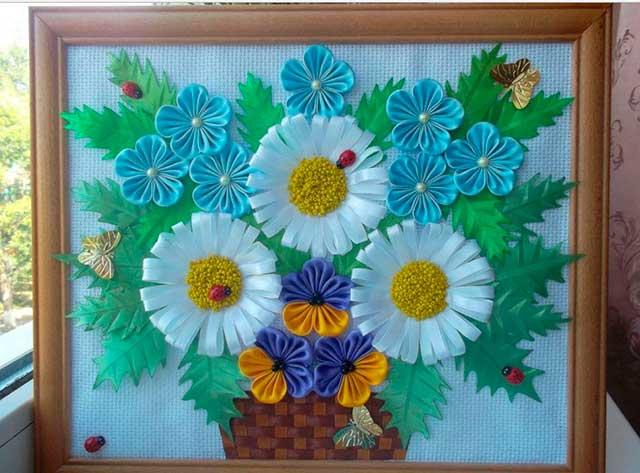 панно с цветами