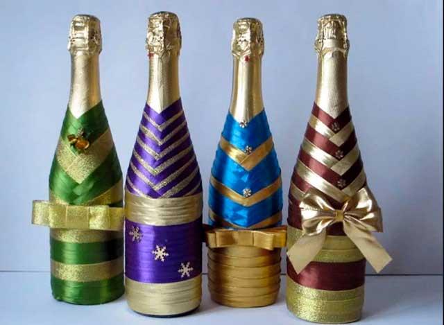 шампанское в лентах