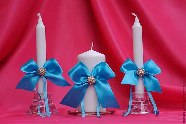 свечи в лентах