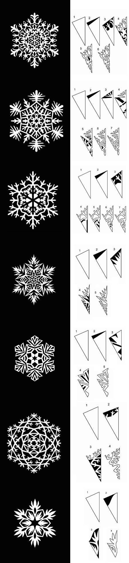 как вырезать снежинки