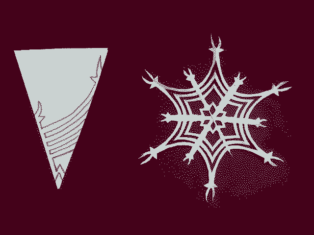 простая снежинка