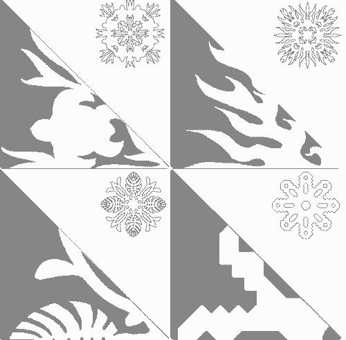 шаблон объемной снежинки