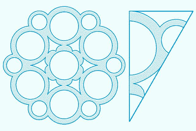 Схема снежинки для вырезания