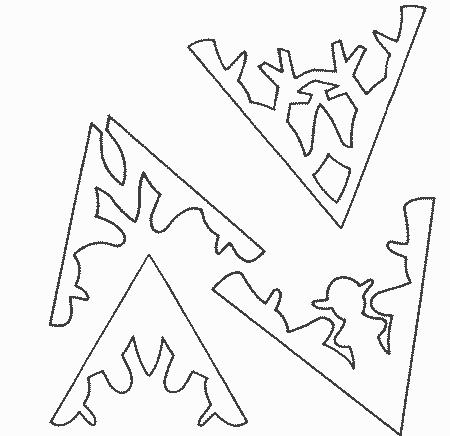 Схема снежинки для вырезанияСхема снежинки для вырезания