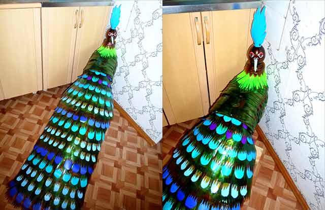 жар птица из пластиковых бутылок