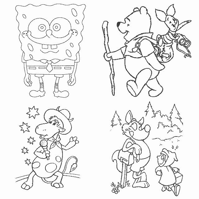 картинки героев из мультфильмов для срисовки