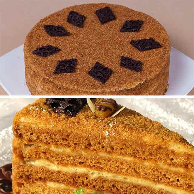 Рецепт приготовления медовый торт в домашних условиях