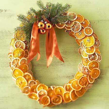венок из апельсина