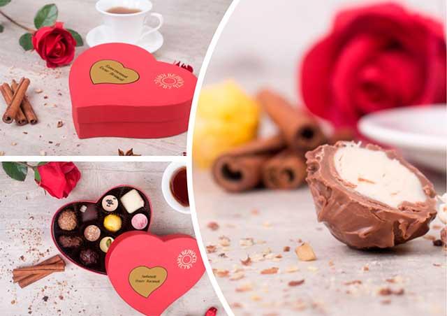 конфеты в коробке сердце