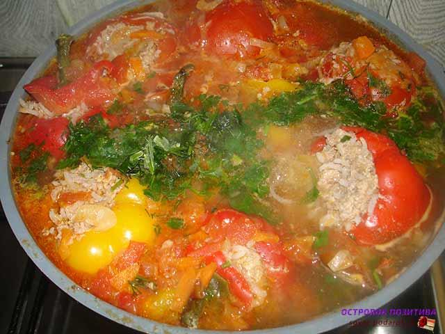 Перец фаршированный мясом и рисом на зиму рецепт с фото пошагово