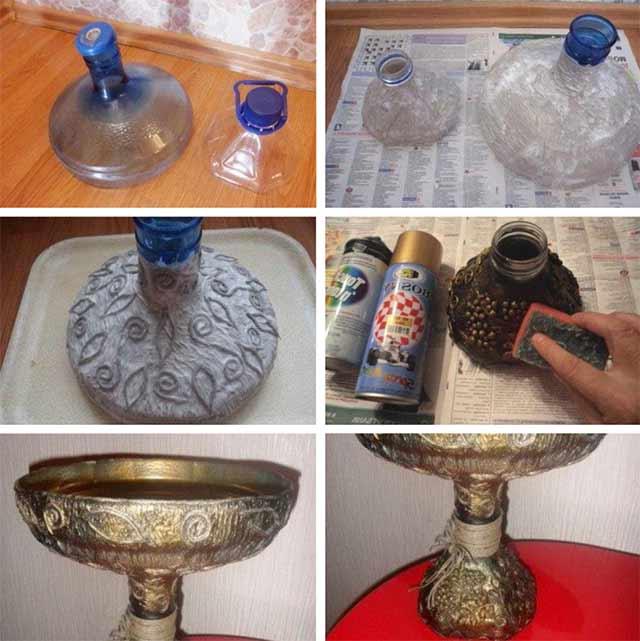 ваза из бутылок